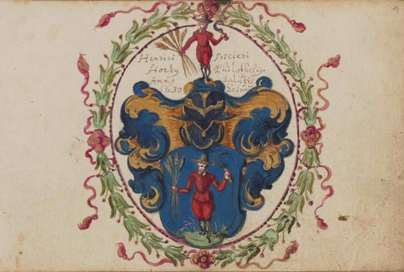 Stammbuch Heinrich Meyer, Bl. 1r